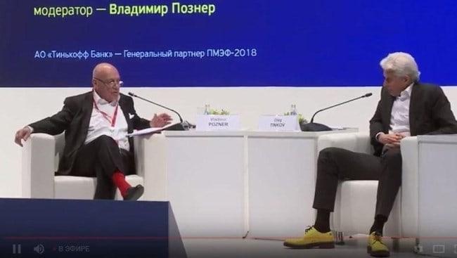 Рисунок 3. Олег Тиньков и «Тинькофф Банк» - генеральный партнер ПМЭФ 2018 и 2019 гг.