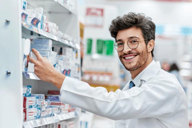 Рисунок 3. По статистике фармацевты чаще всего работают в аптеках