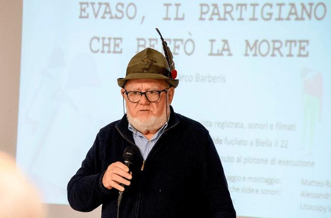 Рис. 1. Ветеран второй мировой войны в традиционной шляпе итальянских партизан