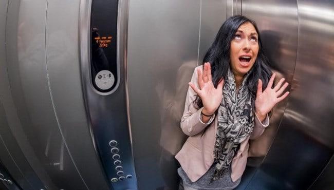 Рис. 2. Оказаться в застрявшем лифте – не самое приятное удовольствие