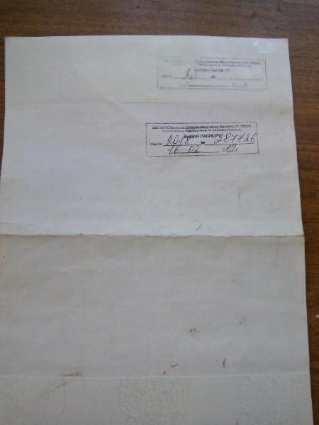 Рис. 2. Отметка в свидетельстве о выдаче паспорта