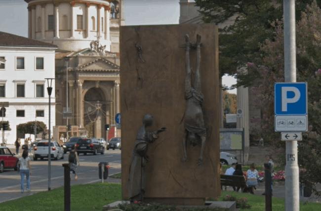 Рис. 2. Памятник партизанам, Бергамо, Ломбардия. Источник: фото из архива автора Барбаевой В.В.