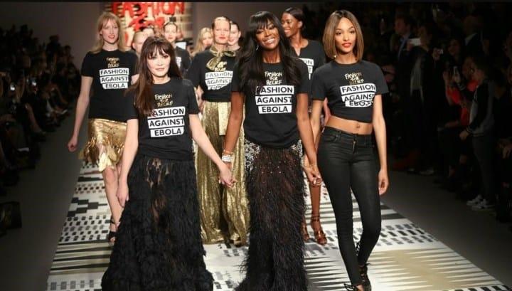 Рисунок 2. Показ Fashion For Relief в 2015 г.: «Мода против Эболы»