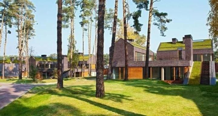 Рисунок 3. Эко-дома с озелененными крышами