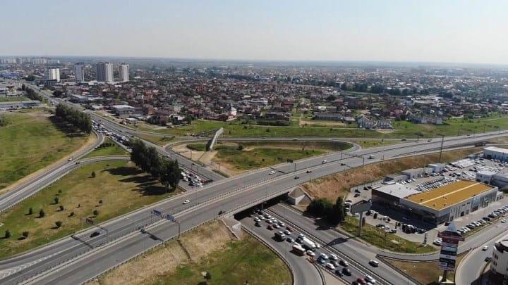 Рисунок 8. Напряженное движение и вид на Ростовское шоссе