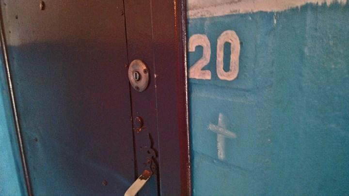 Рис. 1. Домушники пометили квартиру крестиком