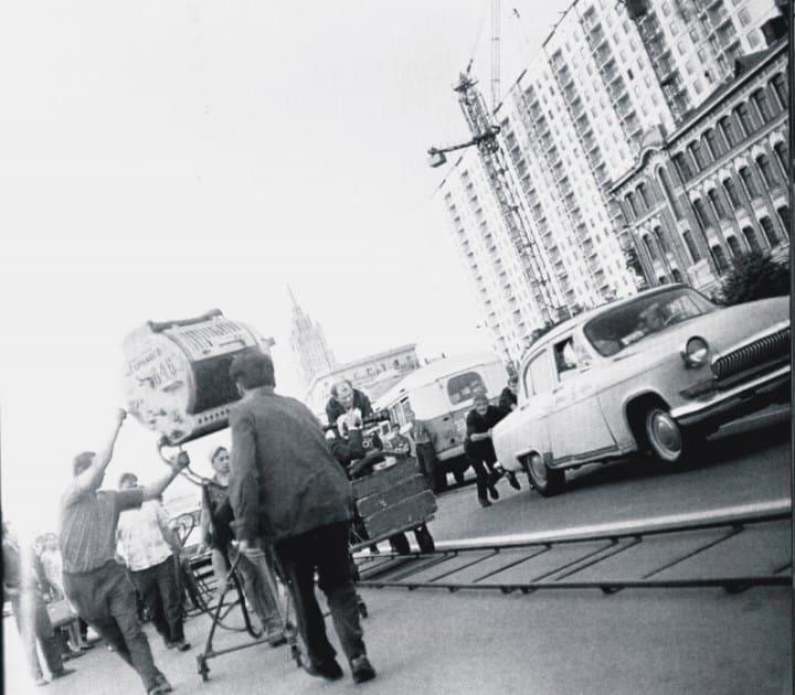 Рис. 1. Съемки фильма «Три тополя на Плющихе» в 1968 году