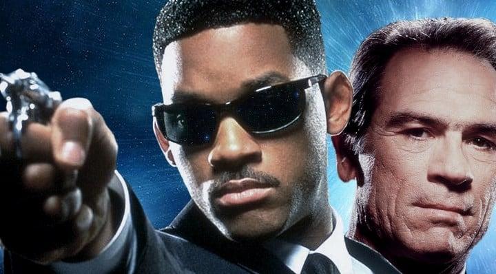 Рис. 2. Уилл Смит (Джей) и Томми Ли Джонс (Кей) – исполнители главных ролей в первых трех частях франшизы