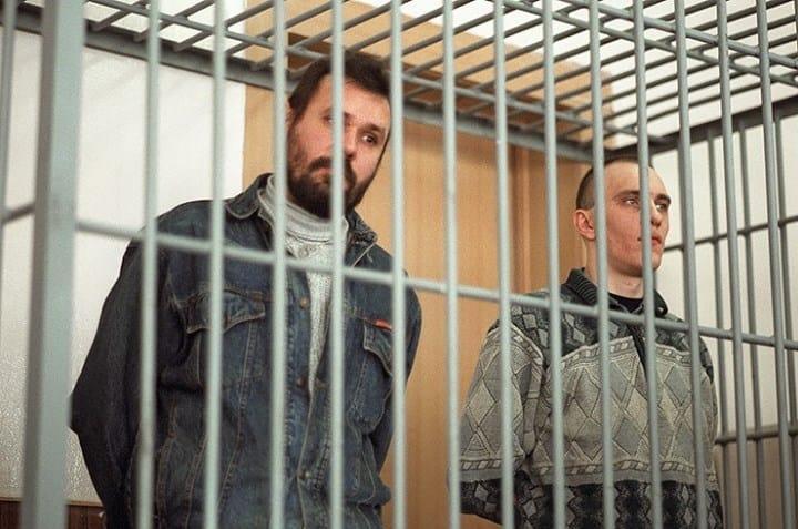 Рис. 3. Соломадин и Грузин во время суда