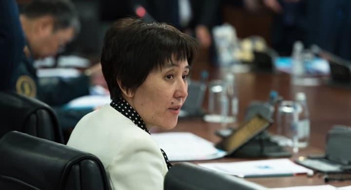 Рис. 5. Министр труда и социальной защиты населения Тамара Дуйсенова