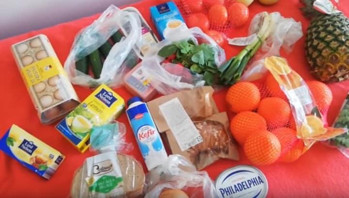 Рис. 5. Набор продуктов на 20 евро. Источник: фото из архива автора Барбаевой В.В.