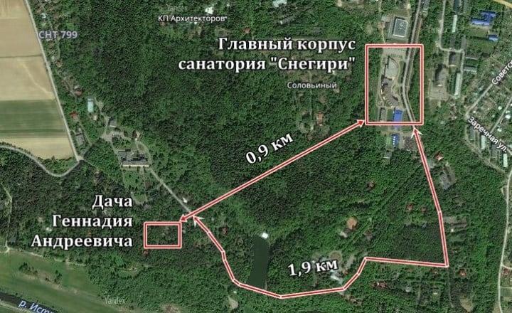 Рисунок 2. Месторасположение дачи парламентария
