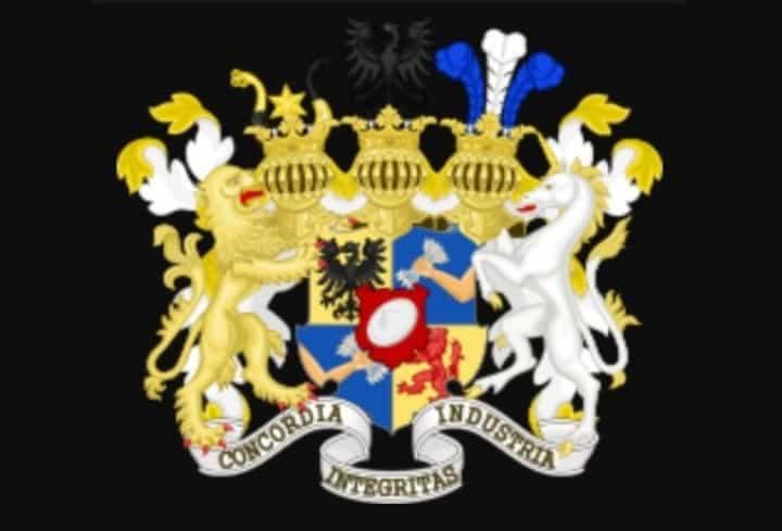 Рисунок 1. На гербе баронов Ротшильд изображена эмблема семьи — рука, сжимающая пять стрел, символизирующих молодых сыновей Майера Амшеля