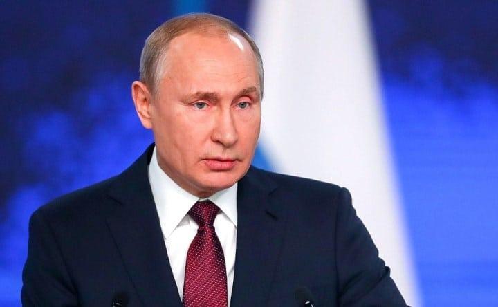 Рисунок 1. Президент РФ В.В. Путин произносит послание Федеральному собранию