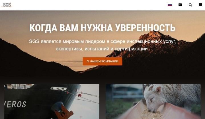 Рисунок 2. Официальный сайт SGS Vostok Limited