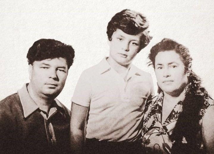 Рис. 1. Петр со своими родителями