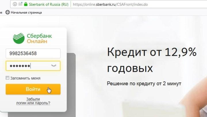 Рис. 2. Вход в онлайн-сервис