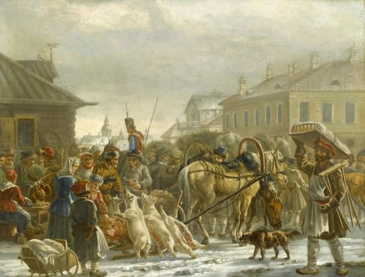 Фотокопия Орловский Александр Осипович, рынок на Сенной площади в Петербурге