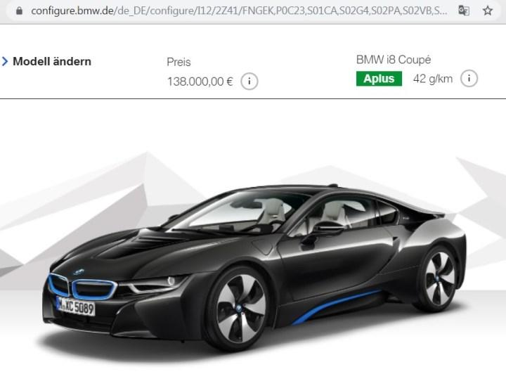 Скриншот страницы сайта BMW