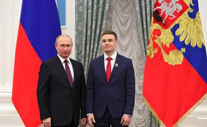 Владимир Путин с Евгением Горловым