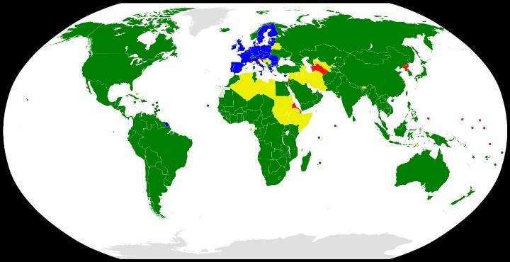 карта участников ВТО.
