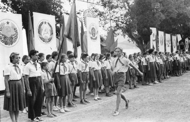 Фото: пионерский лагерь в СССР