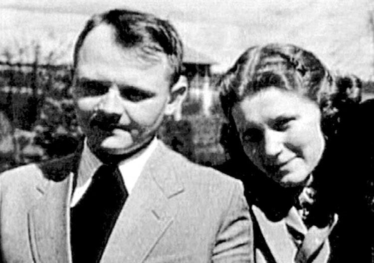 Фото: Аллилуева с мужем