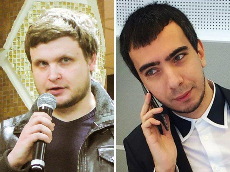 Фото: пранкеры Алексей Столяров (с микрофоном) и Владимир Кузнецов