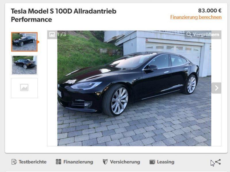 Скриншот с сайта mobile.de
