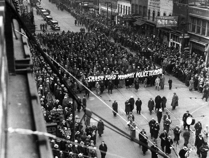 протест в Детройте