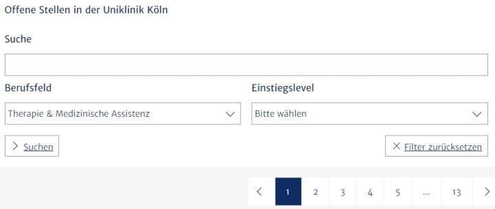 Скриншот с портала Университетской клиники Кёльна