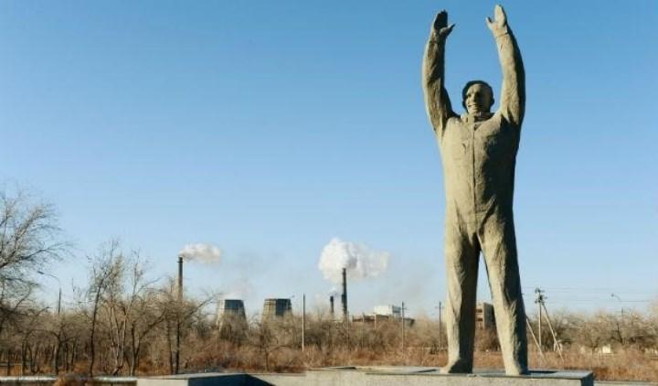 Байконур, памятник Юрию Гагарину