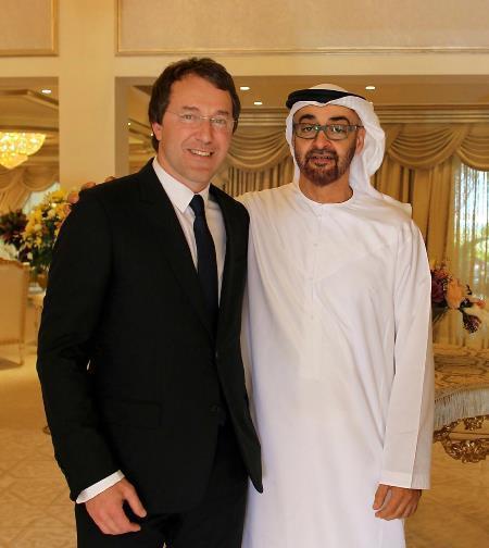 Руслан Байсаров с принцем Абу-Даби