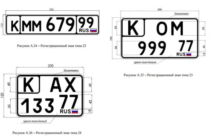 регистрационные знаки для классического транспорта