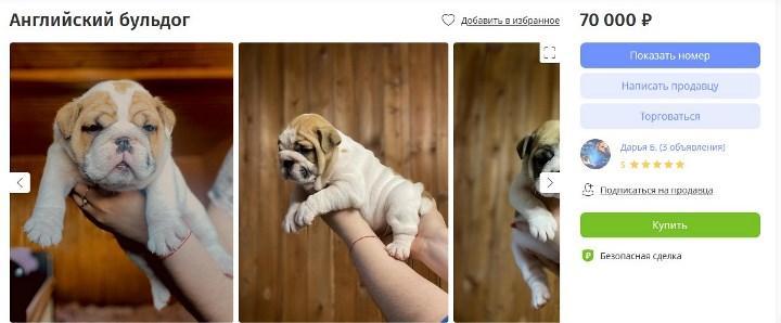 Скриншот объявления на youla.ru