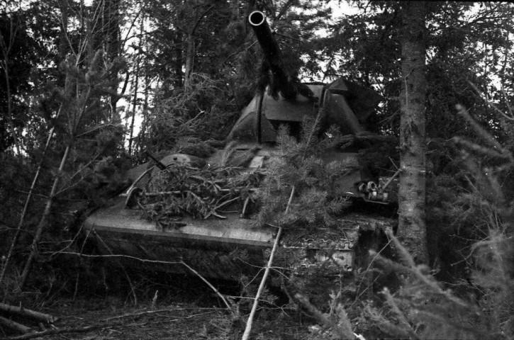 Время съемки 1942 г., Т-34 в засаде, Калининский фронт. Автор: Иван Нарциссов, военный корреспондент