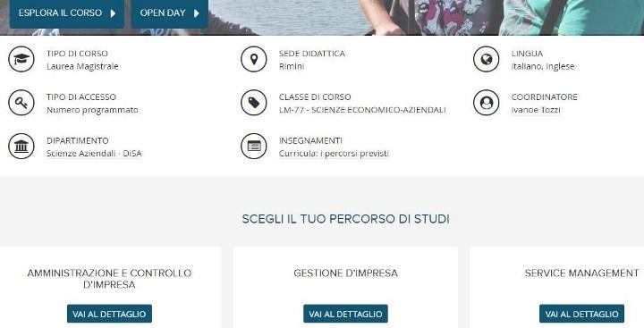 Скриншот corsi.unibo.it