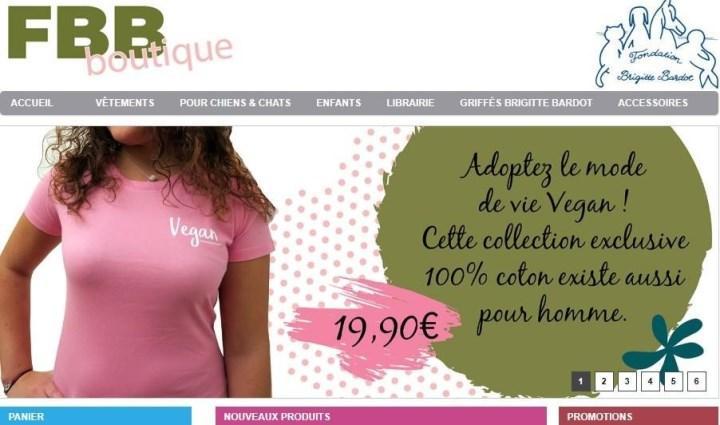 Скриншот с boutique-fondationbrigittebardot.fr