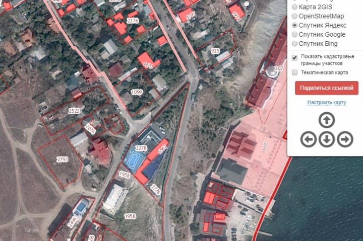 Скрин спутникового снимка