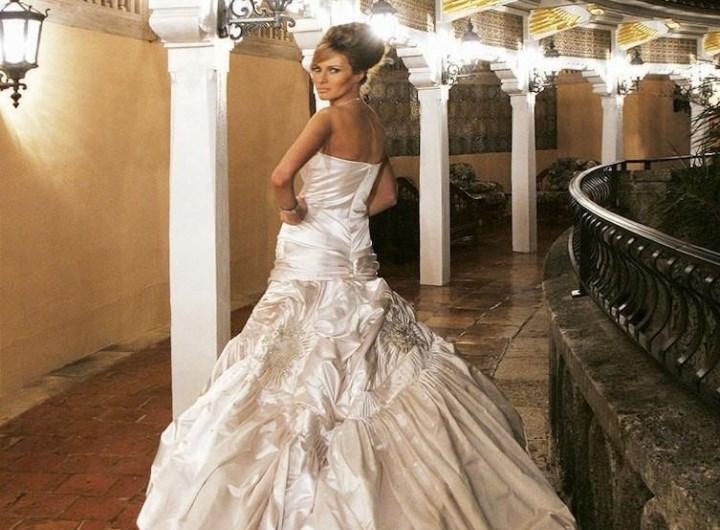 Мелания в дизайнерском платье за 100 тыс. $