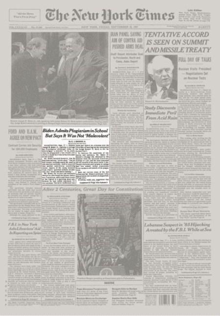 Скрин статьи в New York Times от 18 сентября 1987 г.